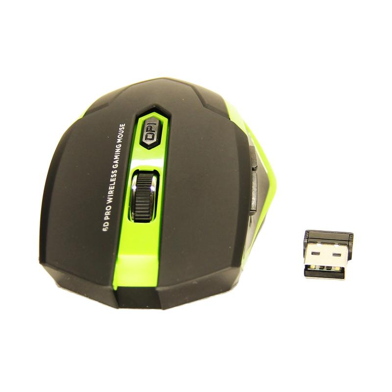Cyborg CMW-018 Warior 6D Pro Gaming Wireless Mouse - Hijau
