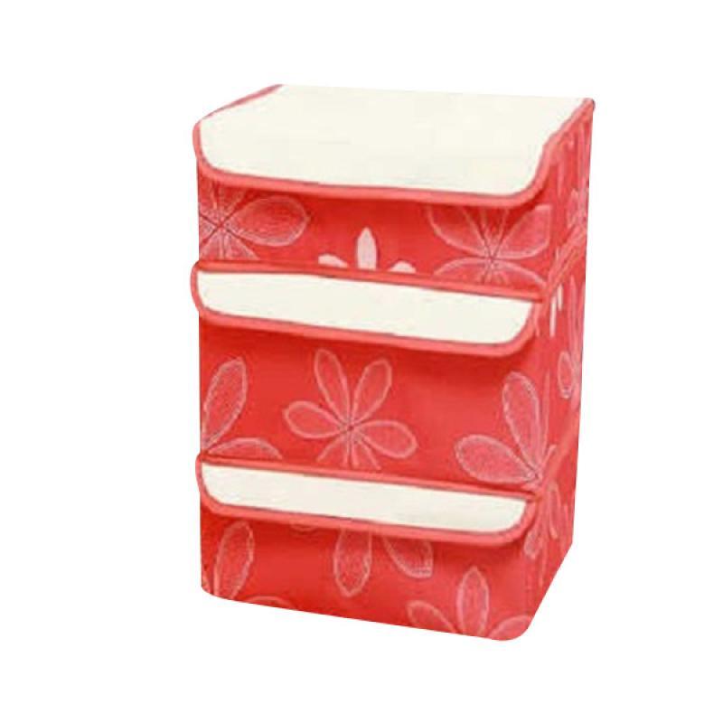 Home-Klik New 3 In1 Underwear Organizer - Merah