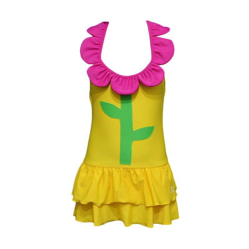 Lasona SW-H3195J-L4 Baju Renang Anak Perempuan - Kuning Magenta