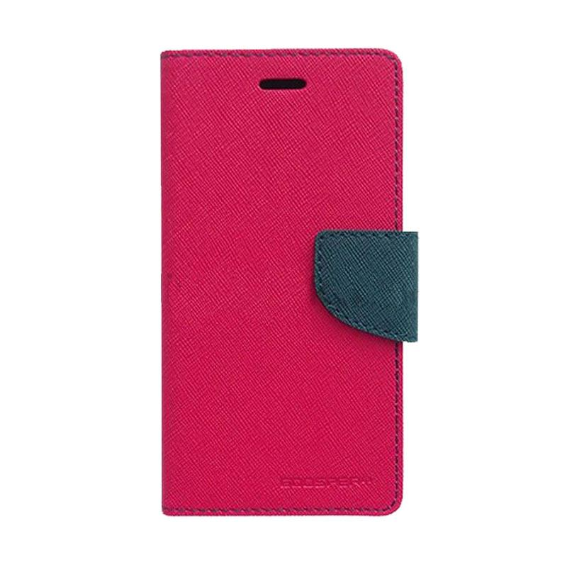 Mercury Fancy Diary Casing for iPhone 7 Plus - Magenta Biru Laut