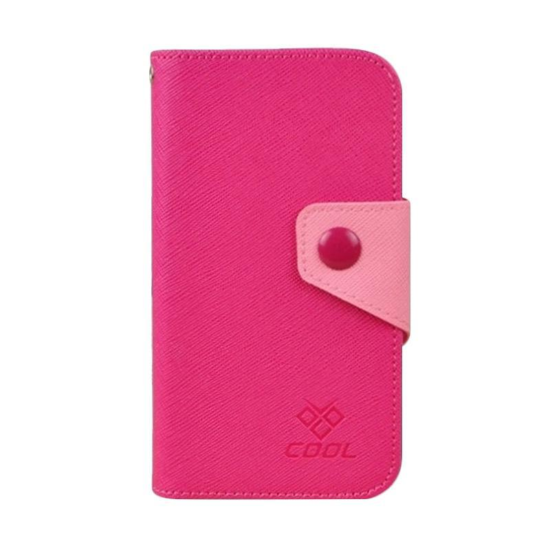 OEM Rainbow Flip Cover Casing for HTC Butterfly - Merah Muda