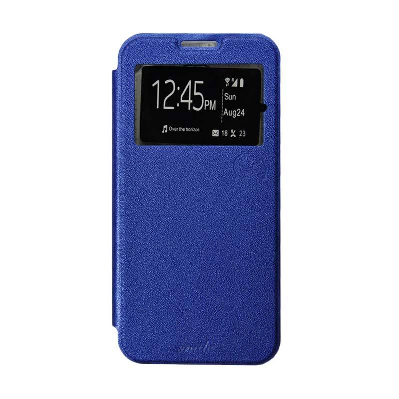 harga Smile Flip Cover Casing for Samsung Galaxy J1 Ace - Biru Tua Blibli.com