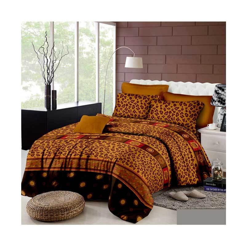 Khawla Disperse Leopard Set Sprei Dan Bed Cover