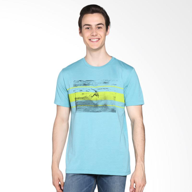 Ocean Pacific Young Mens Tshirt - Turquise 03MTY07456