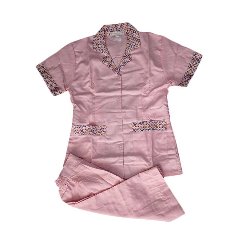 harga Sandrina Kulot Motif Bunga Baju Suster - Pink [Size S] Blibli.com