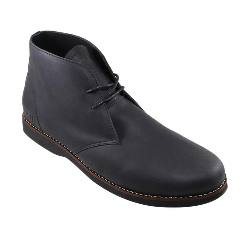 harga SAUQI Kulit Asli CH Sepatu Boots - Chukka Black Blibli.com