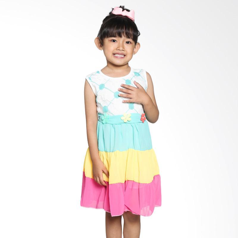 4 You Sleeveless Polkadot Dress - Fuschia
