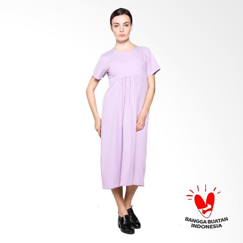 Jual Simple Ladies Sl Wolly Crape Midi Dress Purple Online Oktober 2020 Blibli Com
