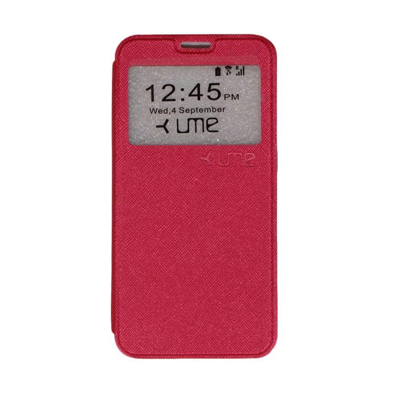 UME Flipshell Flip Cover Casing for Coolpad Fancy 3 E503 5.5 Inch - Red