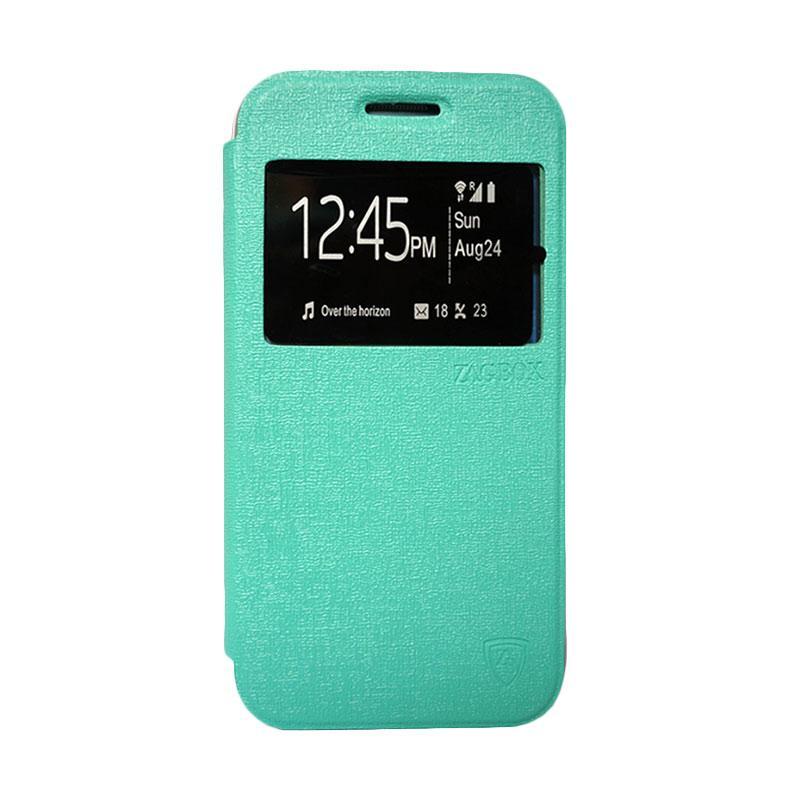 ZAGBOX Flip Cover Casing for Samsung Galaxy S7 Plus - Hijau Tosca