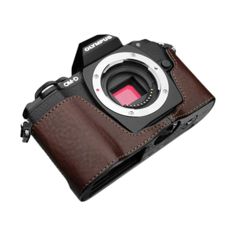 Gariz XS-CHEM10BR Half Cover Casing for Olympus E-M10 - Brown