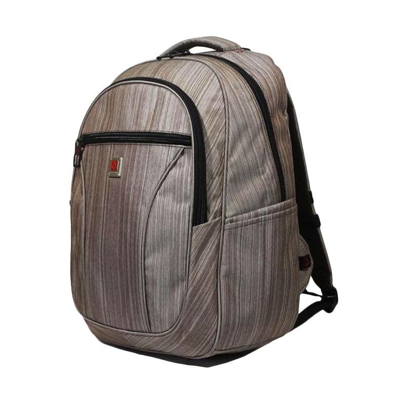 Polo Carion 730045 Tas Ransel Laptop - Coklat + Raincover