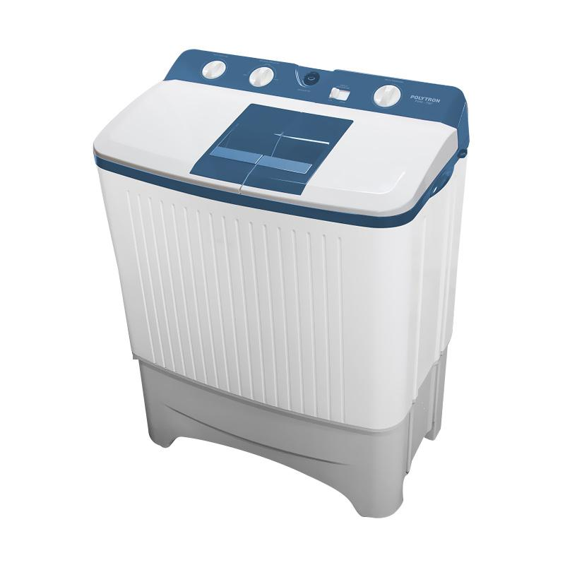 Polytron PWM7067/7056 Mesin Cuci 2 Tabung - Putih Biru [7 kg]