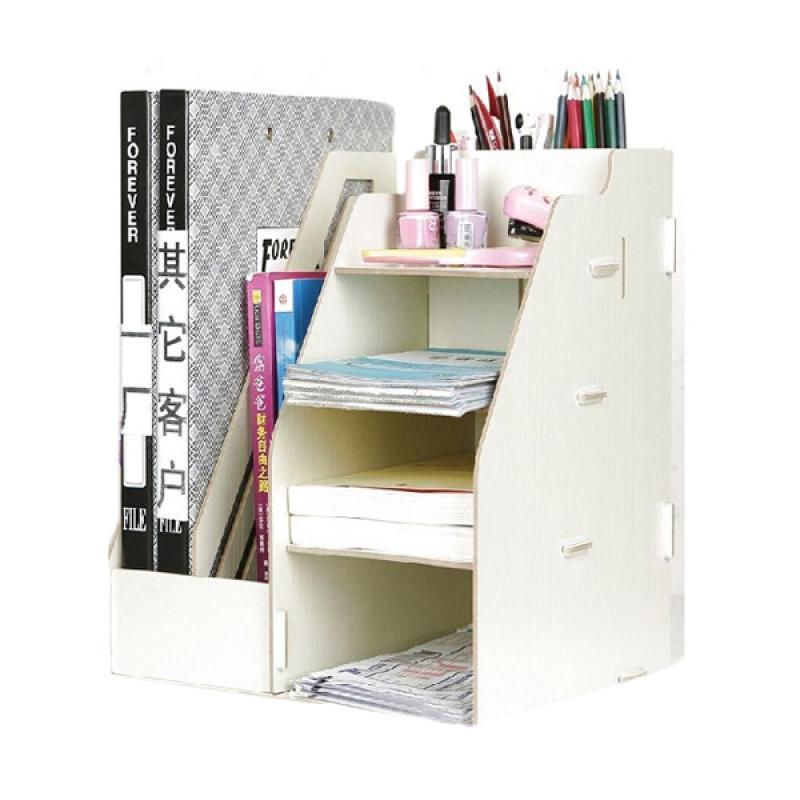 Home Multi Tujuan Pen Kombinasi Rak Buku Rak Buku Kayu Pemegang Pena Page .