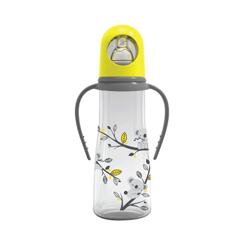 BabySafe JP005 Bottle with Handle Botol Susu - Yellow [250 mL]
