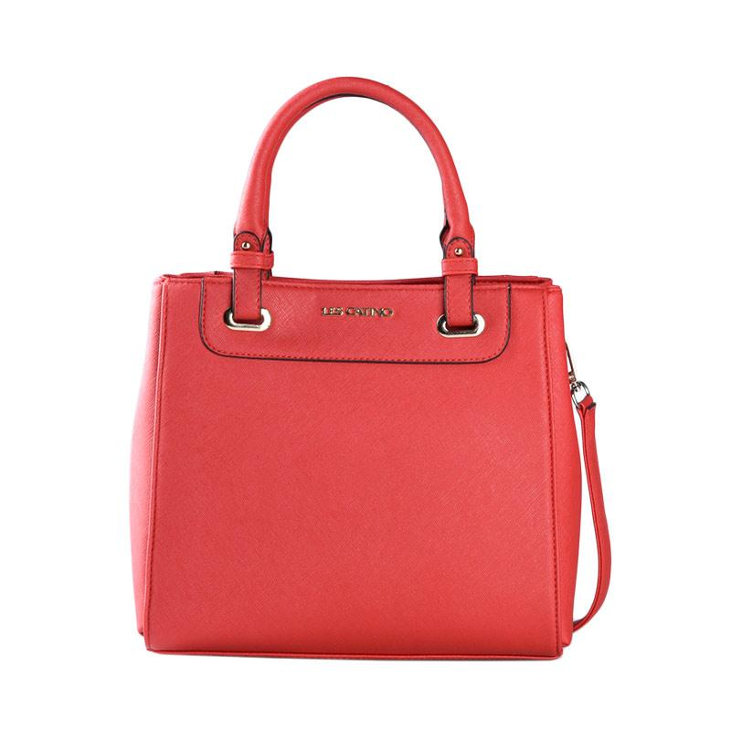 Les Catino Fay Satchel Solid Satchel Bags - Chili Pepper