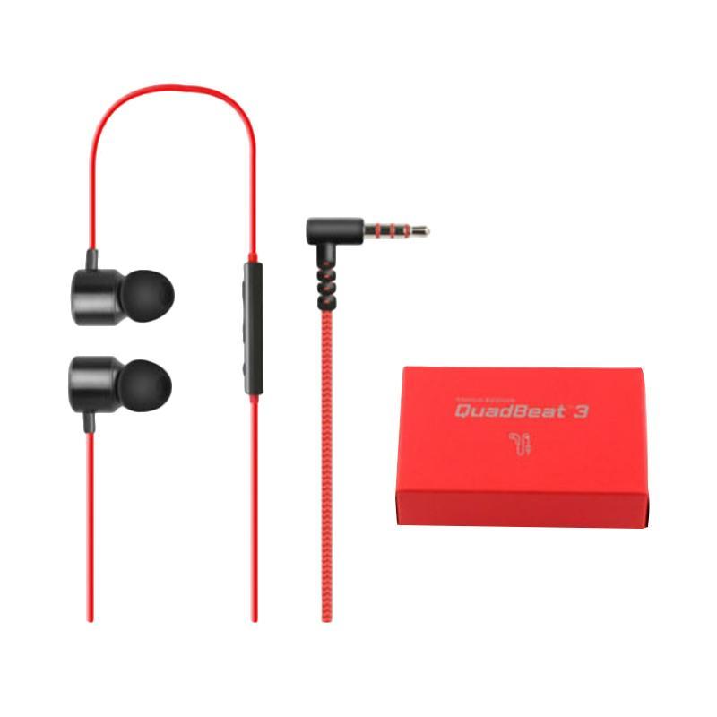 LG QuadBeat 3 LE630 Original Premium In Ear Headset for LG G4 or G3 - Hitam Merah