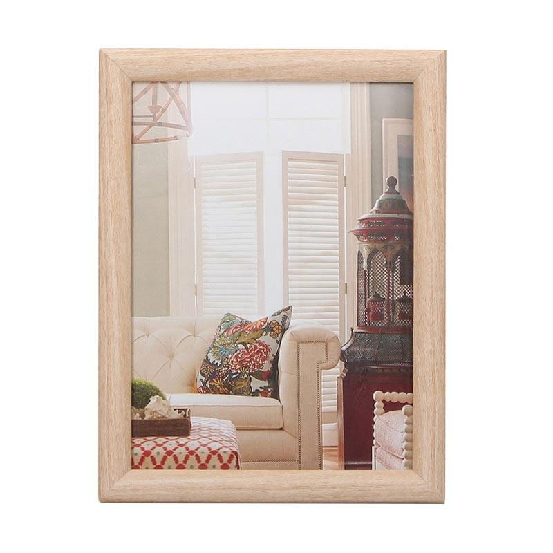 VIVERE Std Natural Curvy Photo Frame - Brown [5 x 7 Inch]