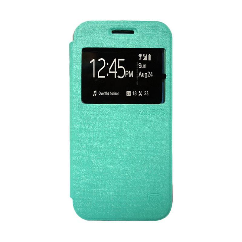 Zagbox Flip Cover Casing for Xiaomi Redmi 1S - Hijau Tosca