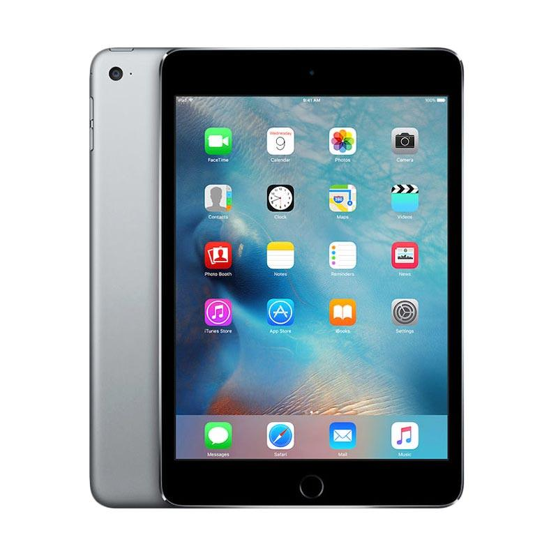 Apple iPad Mini 4 32GB Tablet - Grey [Garansi Resmi/WiFi + Cellular]