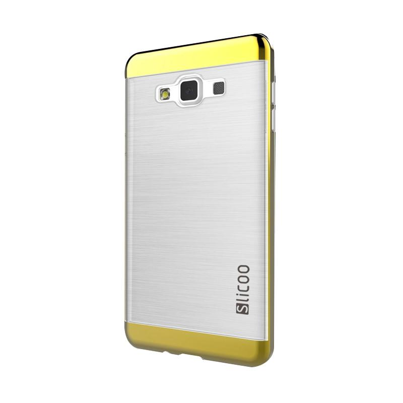 Slicoo Clear Side Cover Hardcase Casing for Samsung Galaxy A5 - Kuning