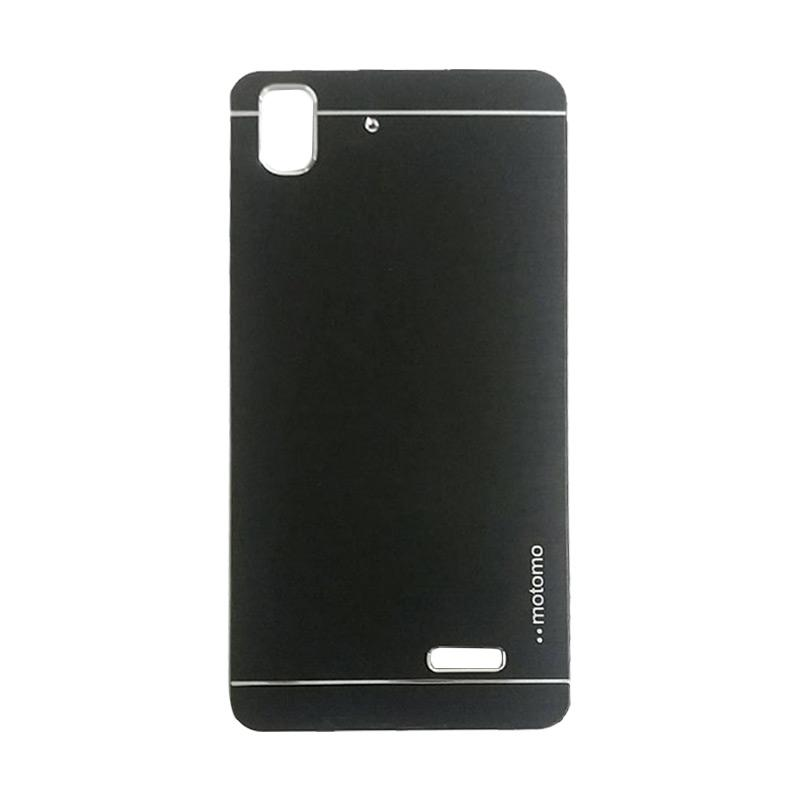 Motomo Metal Hardcase Casing for Oppo R7 or R7 Lite - Black