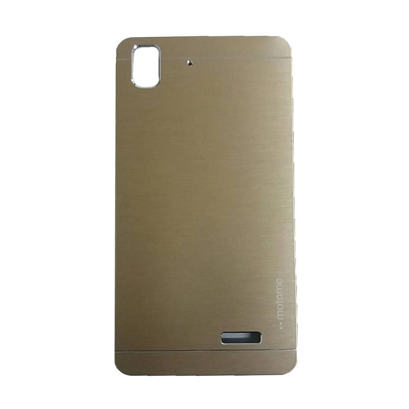 Motomo Metal Hardcase Casing for Oppo R7 or R7 Lite - Gold