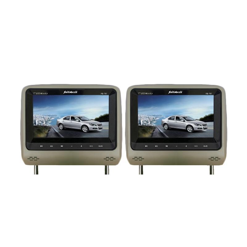 Audiobank AB-767DVD-TV Headrest DVD-TV Monitor - Beige [7 Inch]