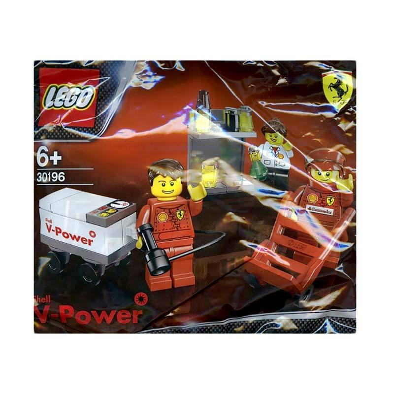 LEGO Minifigure Shell F1 Team Pit Crew 30196 Mainan Blok & Puzzle
