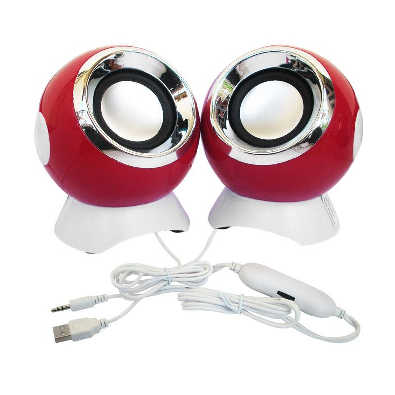 Luxon LX-880 Speaker Komputer USB with Volume Control - Merah