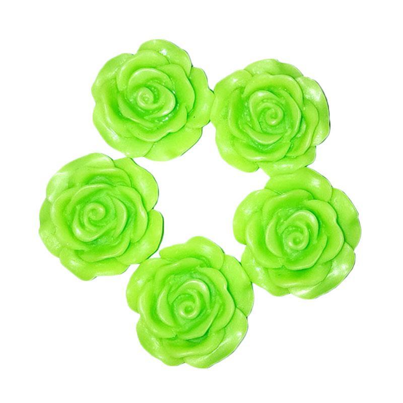 harga Anneui Bahan Kerajinan Tangan Mawar Clay - Light Green [2 cm/ 5 pcs] Blibli.com