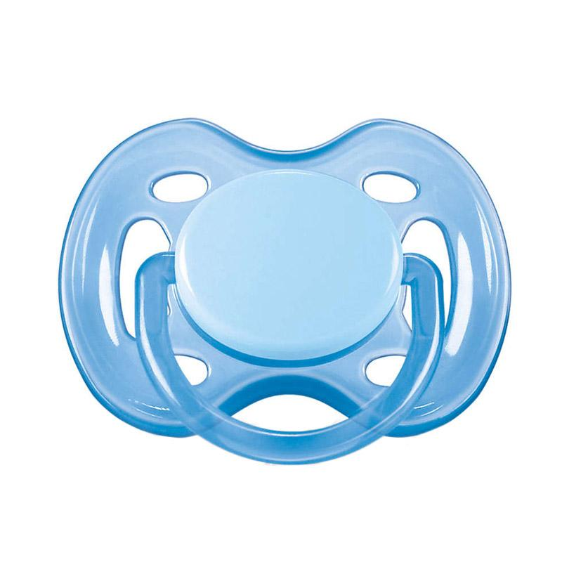 Philips Avent Soother Single Free Flow Dot Bayi - Blue [0-6 Month]
