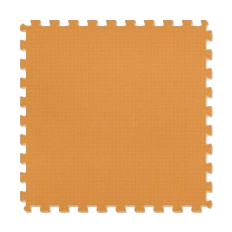 Evamats Puzzle Polos Alas Lantai - Coklat Creme [10 Pcs/30 x 30]