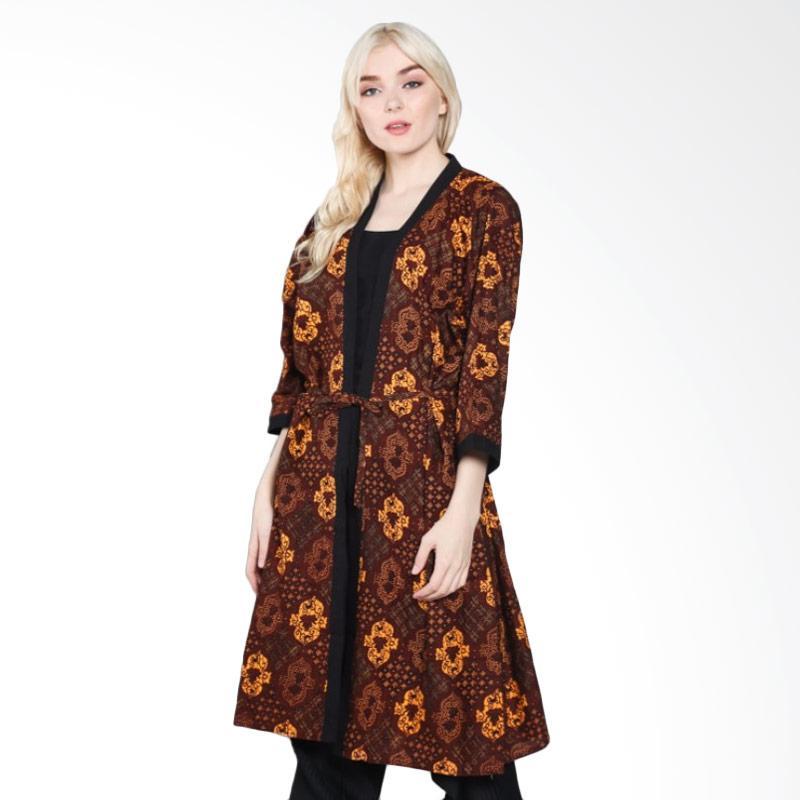 harga Jogja Batik Pradipta B Kimono Sogan Outerwear Wanita - Coklat Blibli.com