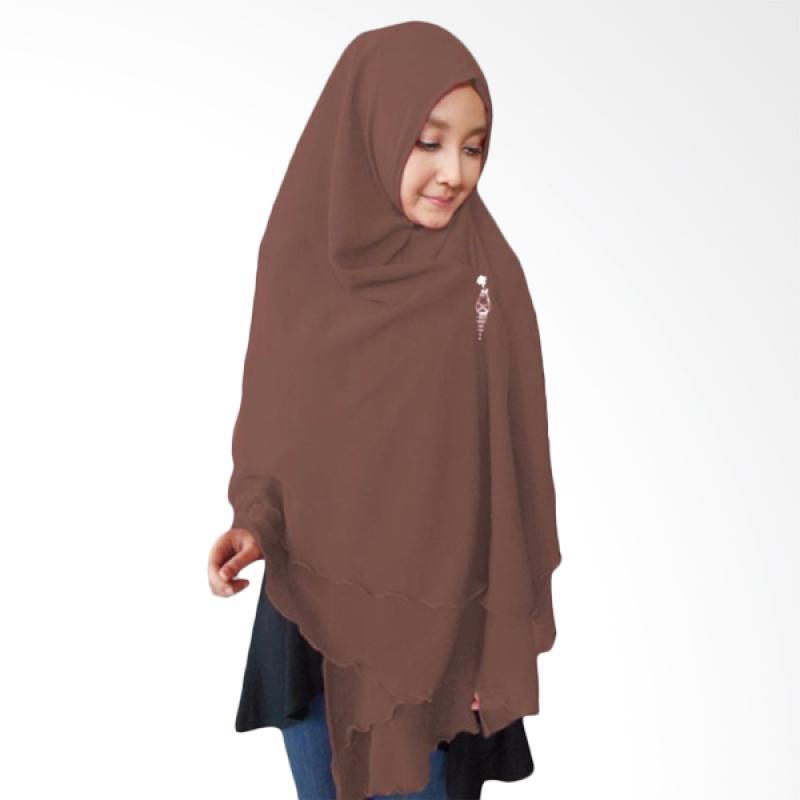 Kus Group Hijab Oki Panjang Kerudung Syar'I - Coklat