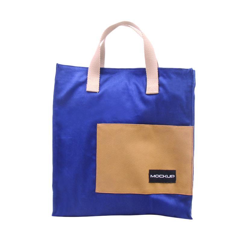 Mock Up Mini Tote Bag Mockup BGO/11 Tas Unisex - Navy Khaki