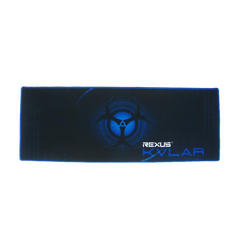 Rexus KVLAR T1 Gaming Mouse Pad – Hitam Biru [80 x 30 x 0.3 cm]