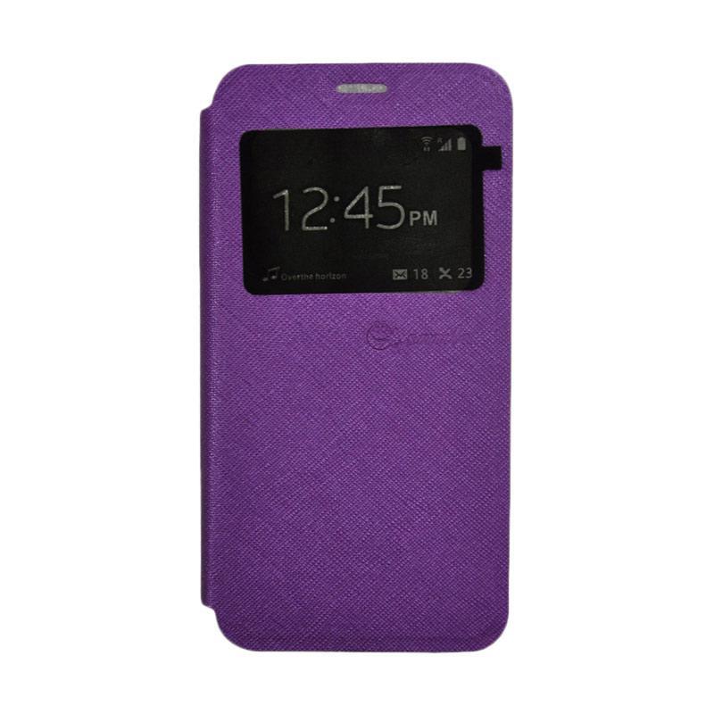 SMILE Standing Flip Cover Casing for Xiaomi Mi 5s - Purple