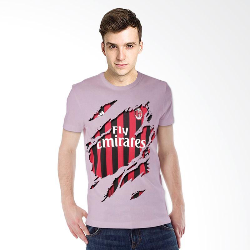 harga T-SHIRT GLORY 3D AC Milan Jersey Kaos - Ungu Muda Blibli.com