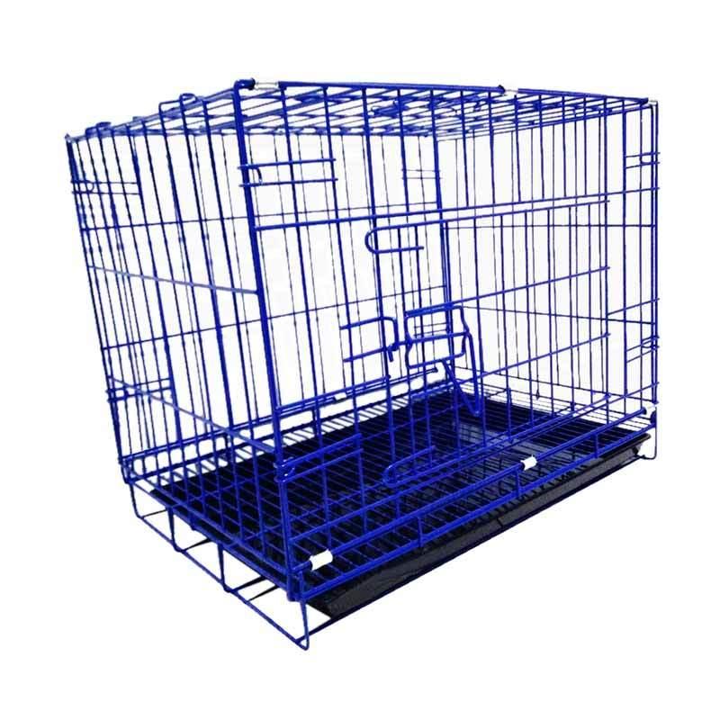 harga WYD K05 Besi Lipat Tebal p60 Kandang Kucing dan Kandang Anjing - Biru Blibli.com