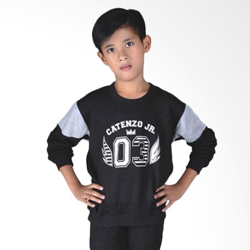 Catenzo Junior CJR CMN 003 Sweather Anak Laki - Laki - Black