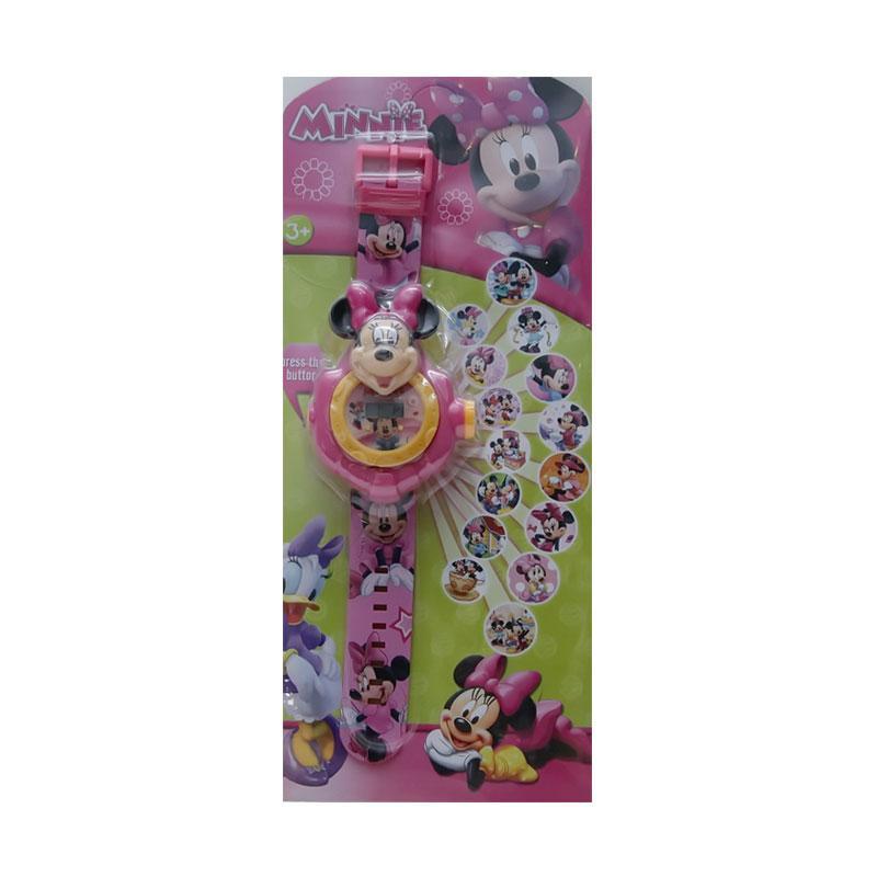 Chloebaby Shop 15 Minnie Jam Tangan Projector - Pink