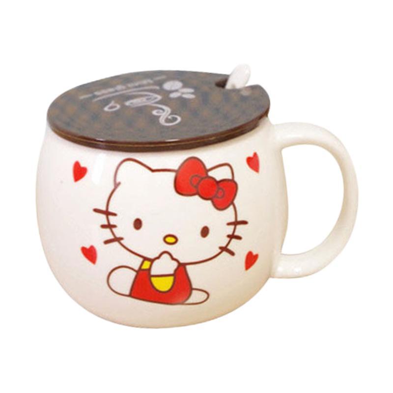 Hello Kitty Cangkir HK Love - White Red Yellow [300 mL]