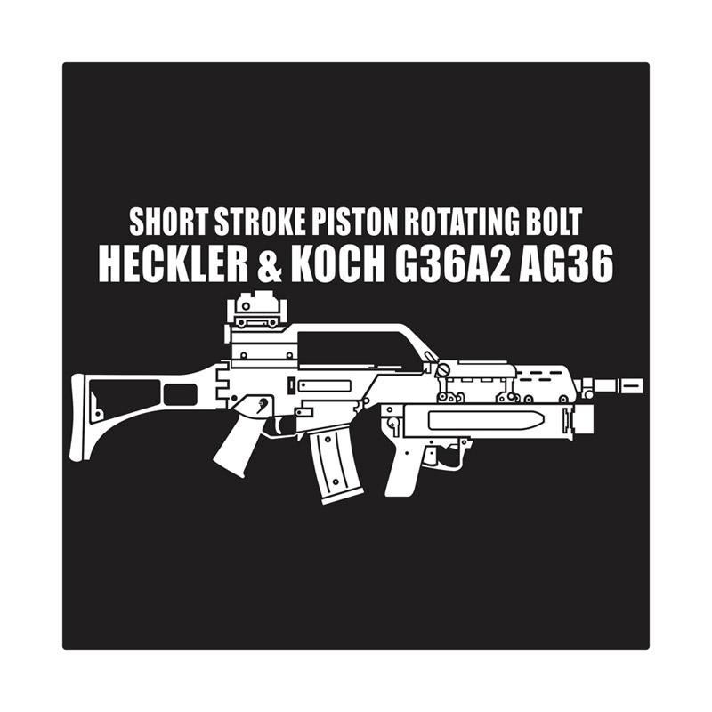 Kyle Heckler & Koch HK G36A2 AG36 With Grenade Launcher Cutting Sticker