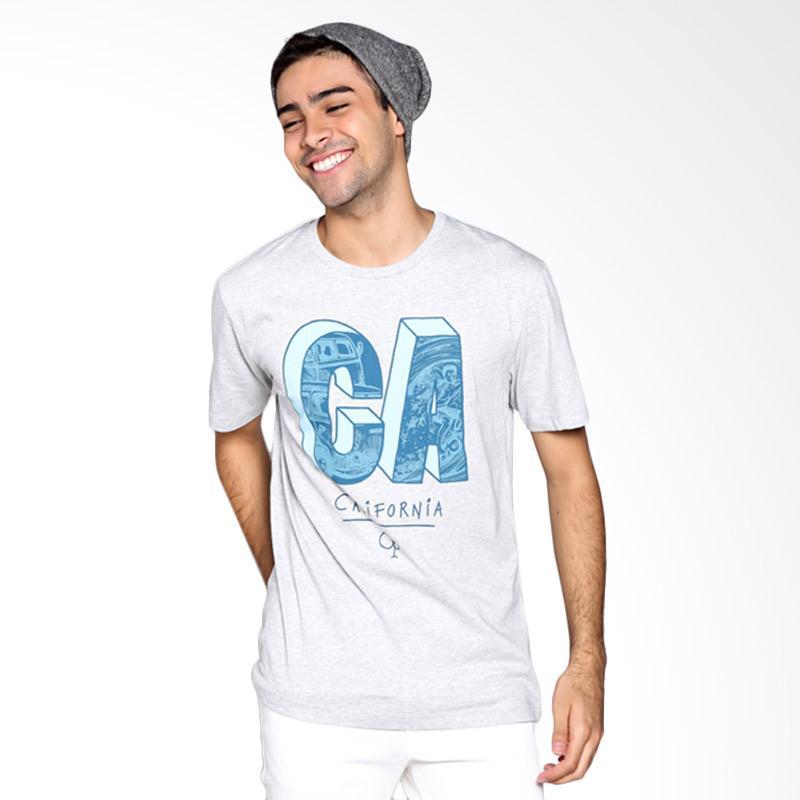 Ocean Pacific Fashion 03MTF93335 Mens T-Shirt - Misty Grey