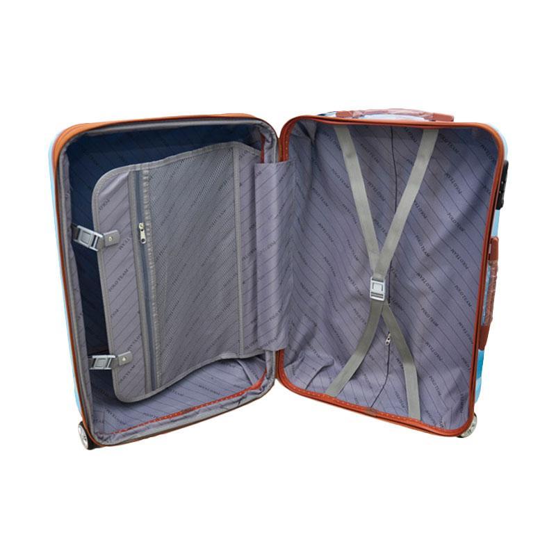 Polo Team 808 Hardcase EXPANDER & TSA Lock Koper - Merah [20 Inch].