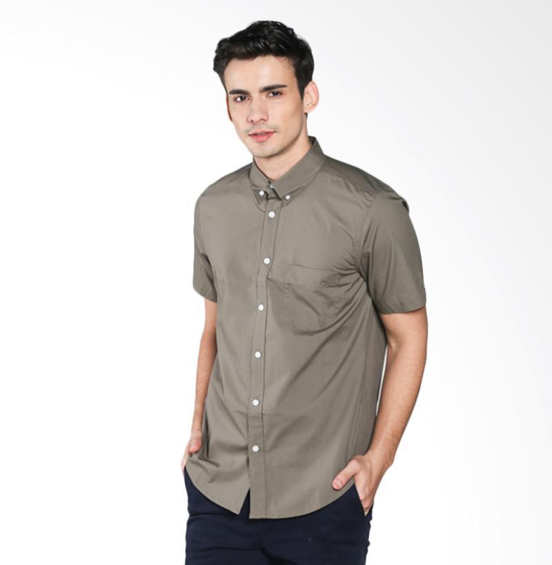 A&D MS 423H Fashion Short Sleeve Mens Shirt - Light Brown