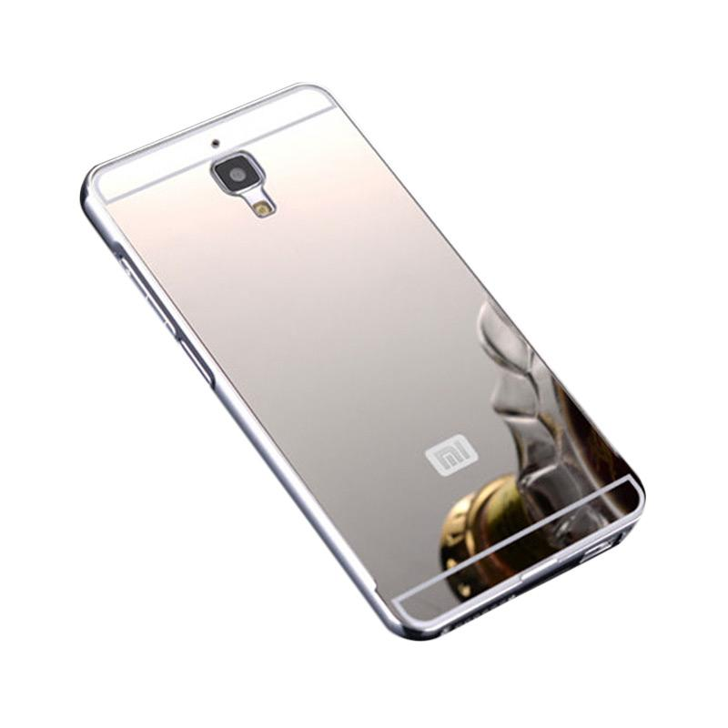 Bumper Case Mirror Sliding Casing for Xiaomi Redmi Mi4 - Silver