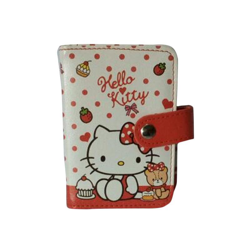 Hello Kitty HK Red Sit Dompet Kartu - Putih Pink