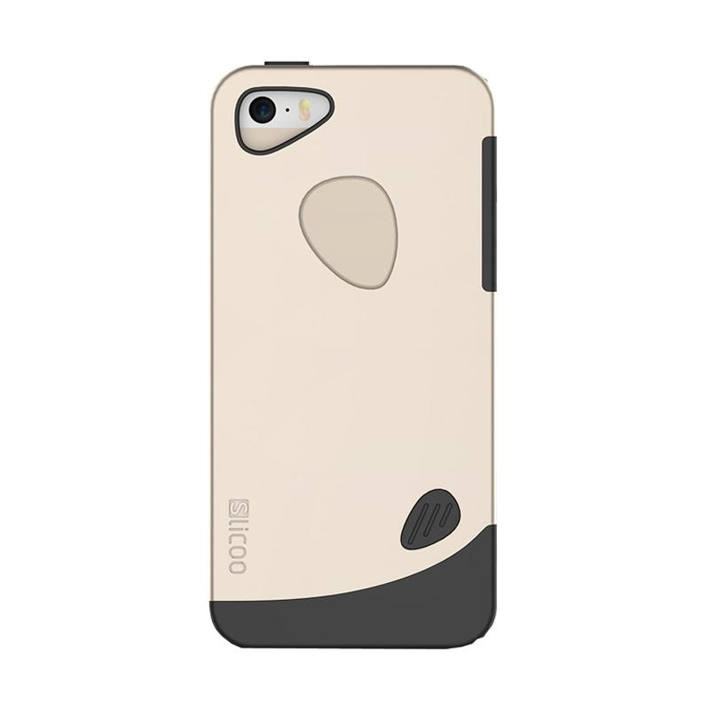 Slicoo Frosted Back Side Hardcase Casing for Apple Iphone 6 - Gold